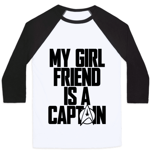My Girlfriend Is A Captain Baseball Tee