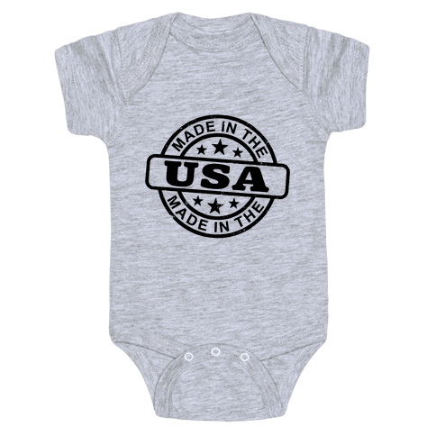 Made In The USA Stamp Baby Onesy