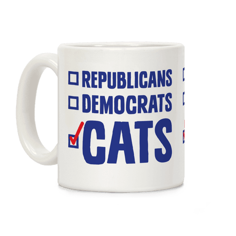 Republicans Democrats Cats Coffee Mug