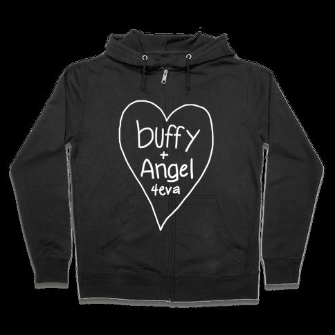 Buffy + Angel 4eva Zip Hoodie