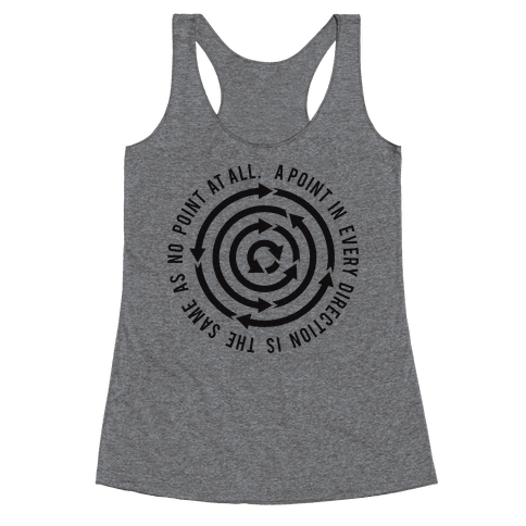 A Point in Every Direction Racerback Tank Top