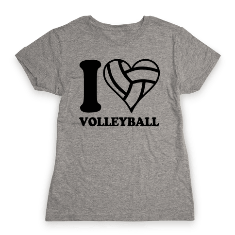 I Love Volleyball Womens T-Shirt