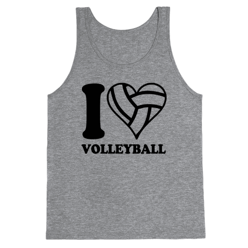 I Love Volleyball Tank Top