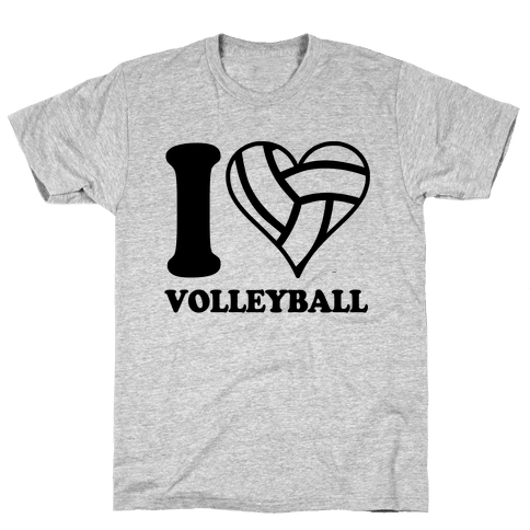 I Love Volleyball Mens T-Shirt