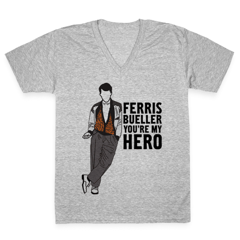 You're My Hero V-Neck Tee Shirt