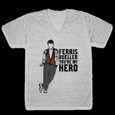 You're My Hero V-Neck Tee Shirt