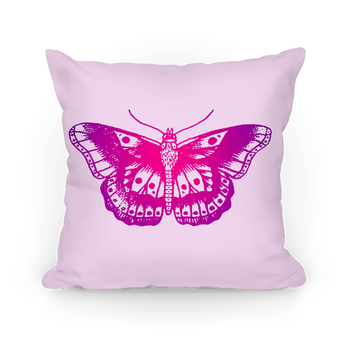Purple Butterfly Pillow