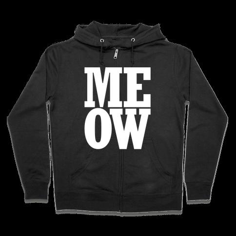 Meow Zip Hoodie