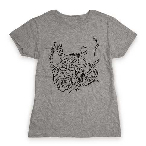 Floral Teapot Womens T-Shirt