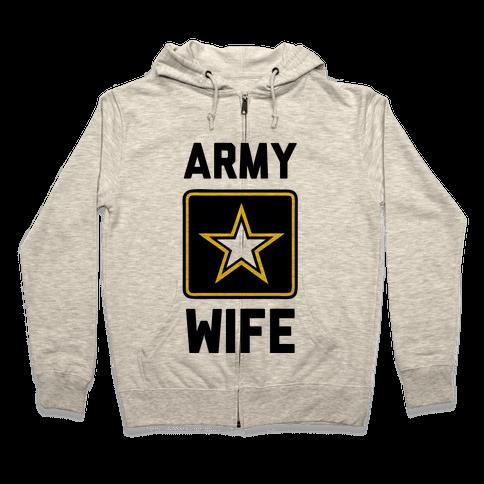 Army Wife Zip Hoodie