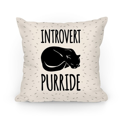 Introvert Purride Pillow