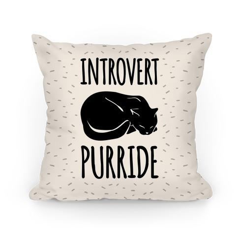 Introvert Purride Pillow