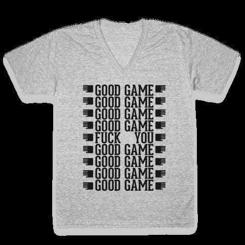 Good Game hoodie V-Neck Tee Shirt
