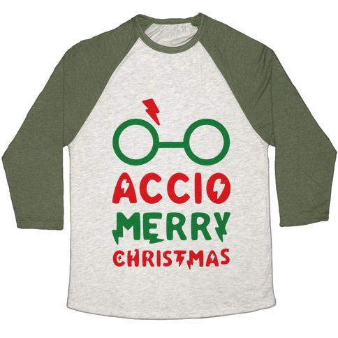 Accio Merry Christmas Baseball Tee