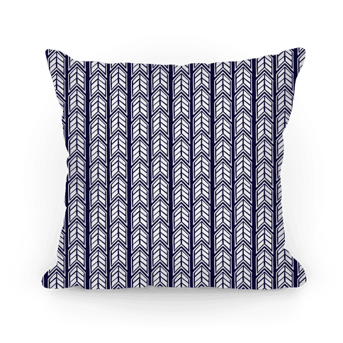 Navy Chevron Pattern Pillow
