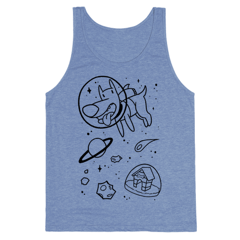 Blast Off Space Dog Tank Top