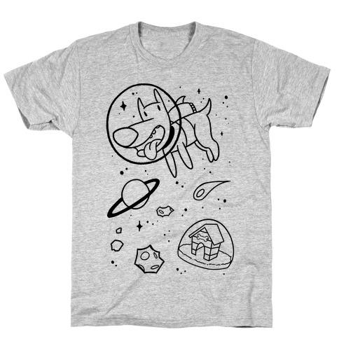 Blast Off Space Dog T-Shirt