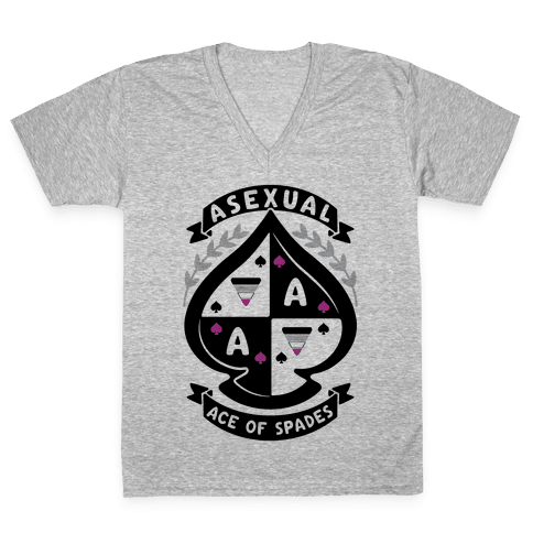 Asexual Crest V-Neck Tee Shirt