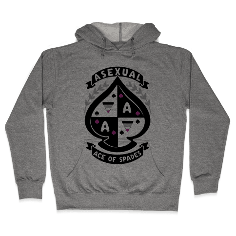 Asexual Crest Hooded Sweatshirt