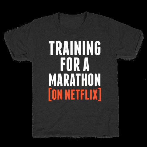Training for a Marathon (On Netflix) Kids T-Shirt