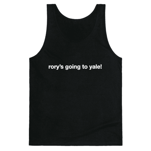 Rory's Going To Yale! Tank Top