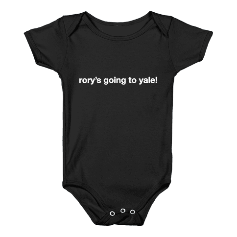 Rory's Going To Yale! Baby Onesy