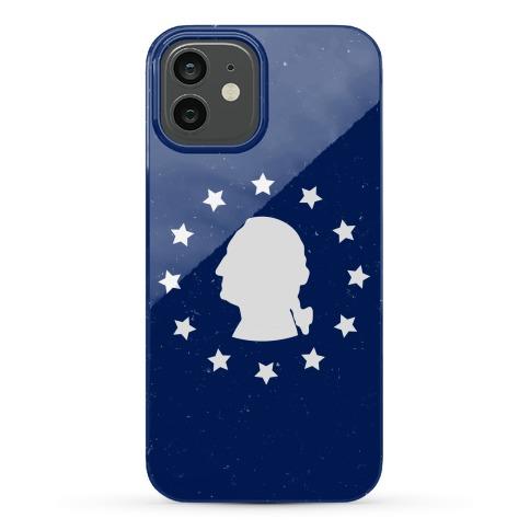 George Washington Silhouette Phone Case