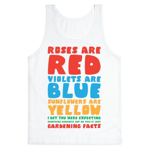 Gardening Facts Tank Top