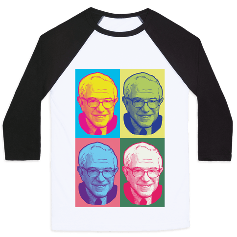 Pop Art Bernie Sanders Baseball Tee