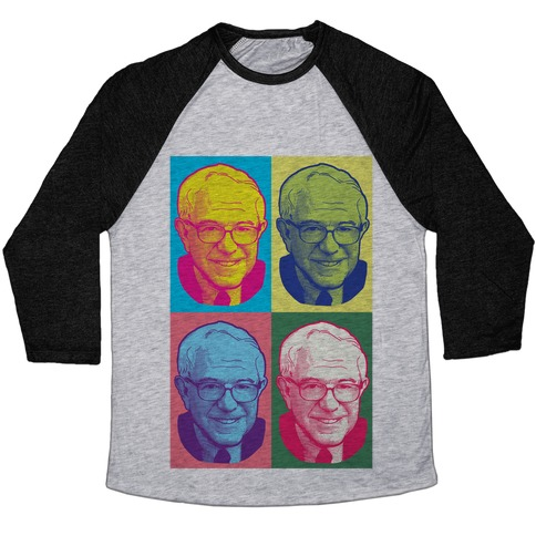 Pop Art Bernie Sanders Baseball Tee