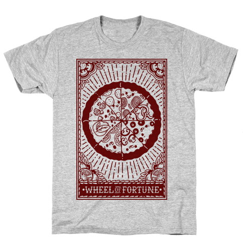 Pizza Wheel of Fortune Tarot Card Mens T-Shirt