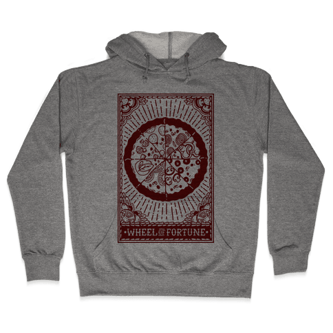 Pizza Wheel of Fortune Tarot Card Hooded Sweatshirt