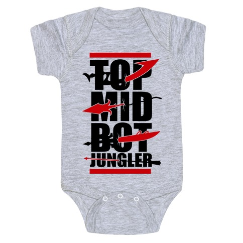 Top Mid Bot Jungler Baby Onesy