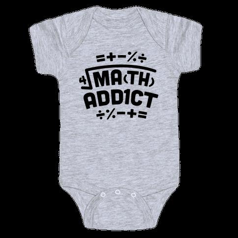 Math Addict  Baby Onesy