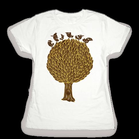 Birds on a Tree Womens T-Shirt