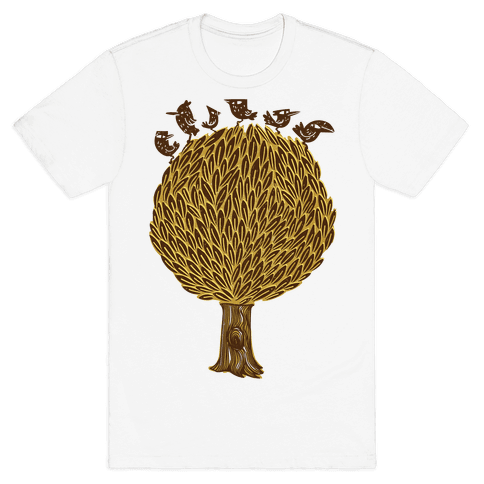 Birds on a Tree Mens T-Shirt