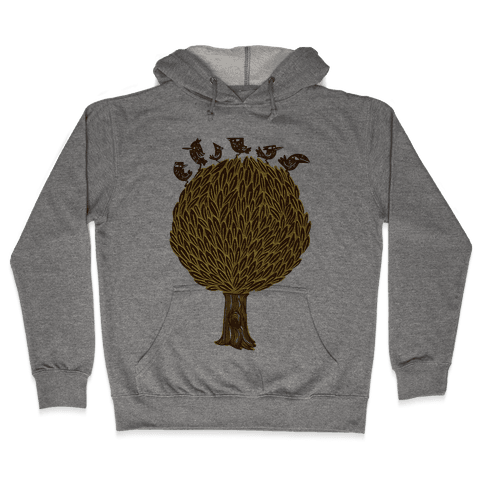 Birds on a Tree Hooded Sweatshirt
