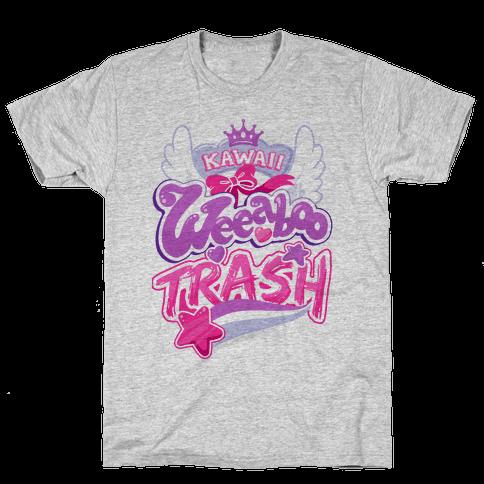 Kawaii Weeaboo Trash Anime Logo Mens/Unisex T-Shirt