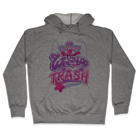 Kawaii Weeaboo Trash Anime Logo Hooded Sweatshirt