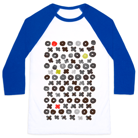 XOXO Hugs and Kisses Pattern Baseball Tee
