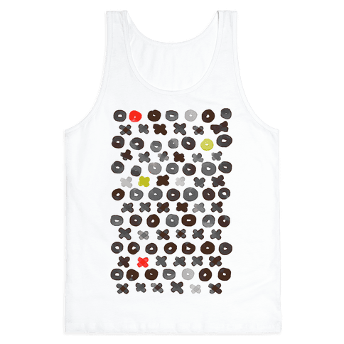 XOXO Hugs and Kisses Pattern Tank Top