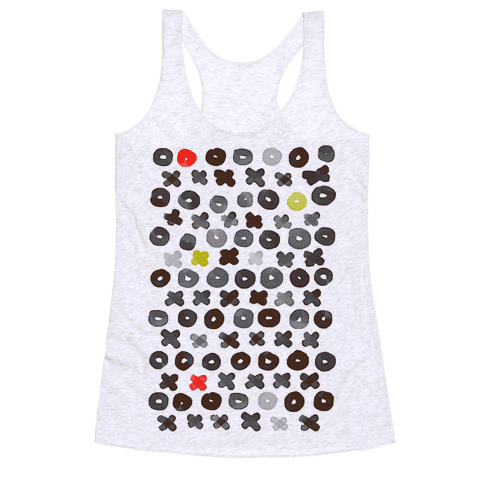 XOXO Hugs and Kisses Pattern Racerback Tank Top