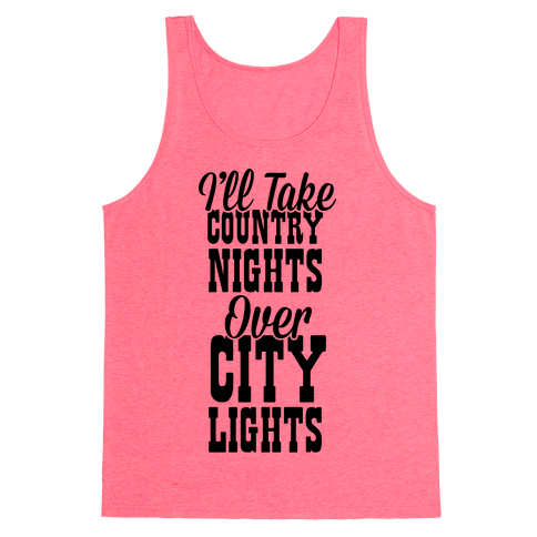 Country Nights Over City Lights Tank Top