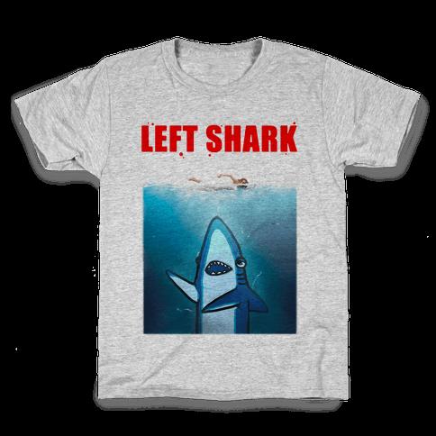 Left Shark Jaws Parody Kids T-Shirt