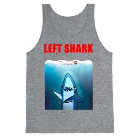 Left Shark Jaws Parody Tank Top