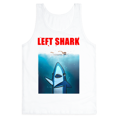 Left Shark Jaws Parody Tank Top