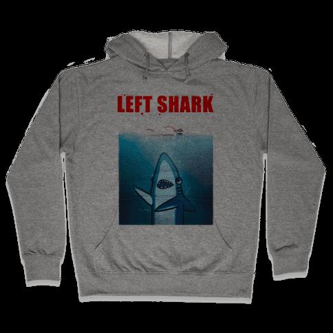 Left Shark Jaws Parody Hooded Sweatshirt