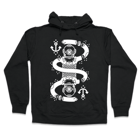 Diver Chopped and Reflected Hooded Sweatshirt