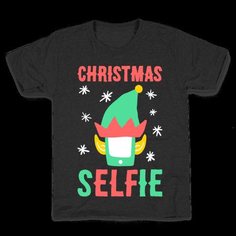 Christmas Selfie Kids T-Shirt