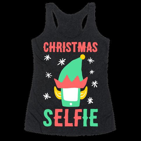 Christmas Selfie Racerback Tank Top